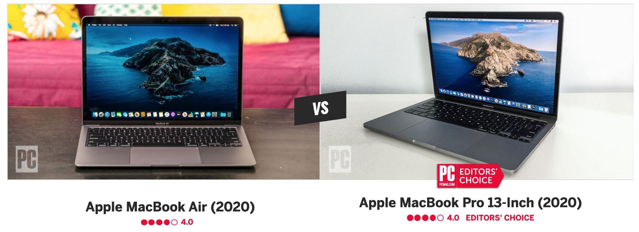Macbook Pro Vs Macbook Air Which 13 Inch Apple Laptop Is Best For You By Pcmag Pc Magazine Medium