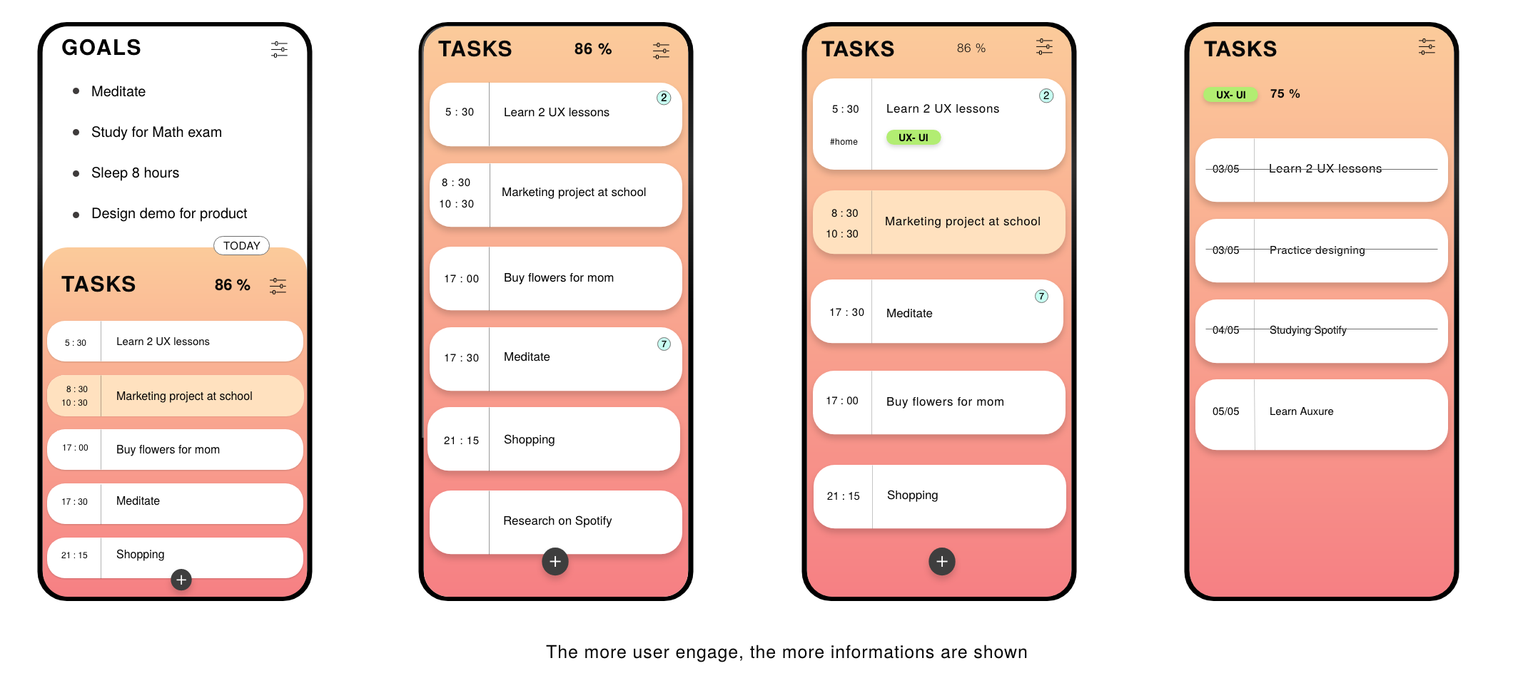 Stuck with to-do list, I created a new app for myself — a UX