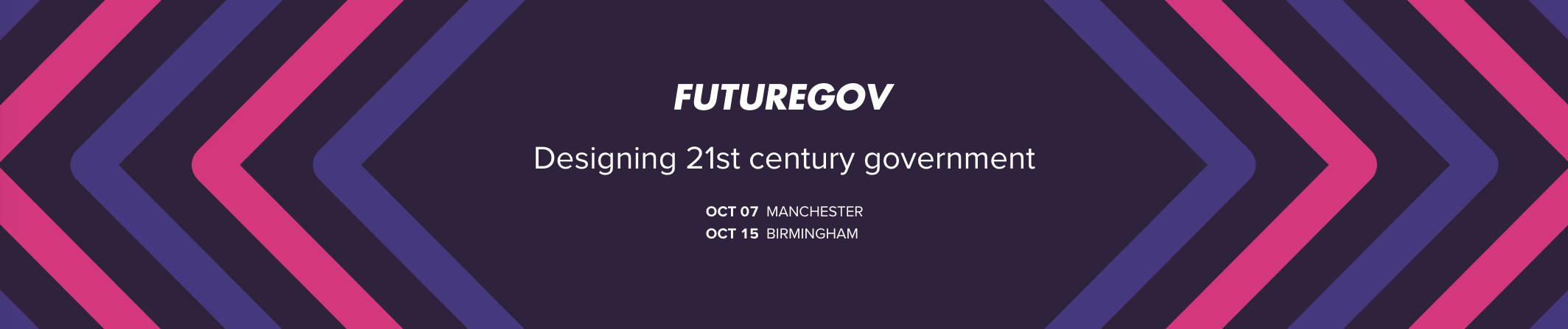 banner with FutureGov logo and title of the event