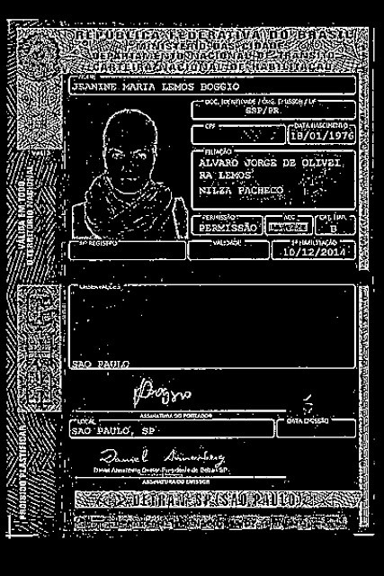 Driver's license OCR CNH with Python, OpenCV and Tesseract