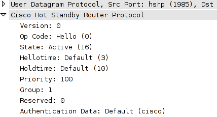 Exploiting Cisco HSRP - PortUnreachable
