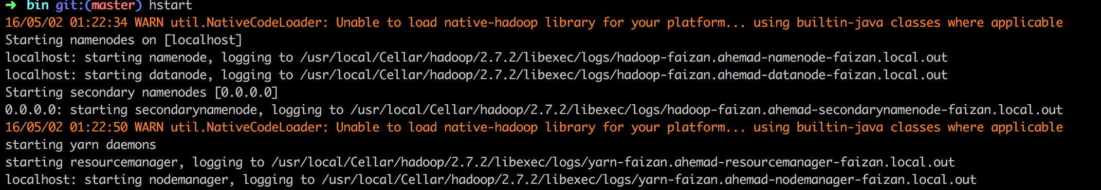 Hadoop native libraries: Installation on Mac Osx - Faizan