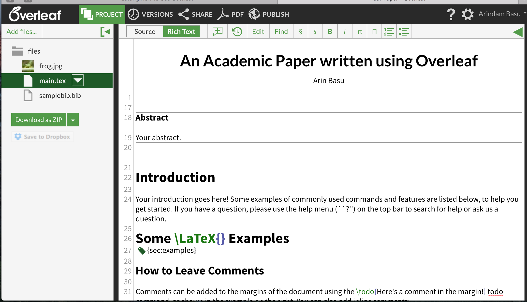 How to Use Overleaf for collaborative Academic Writing — Part I