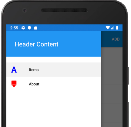 Xamarin Forms — Menu — Shell Form App with FontAwesome Icons