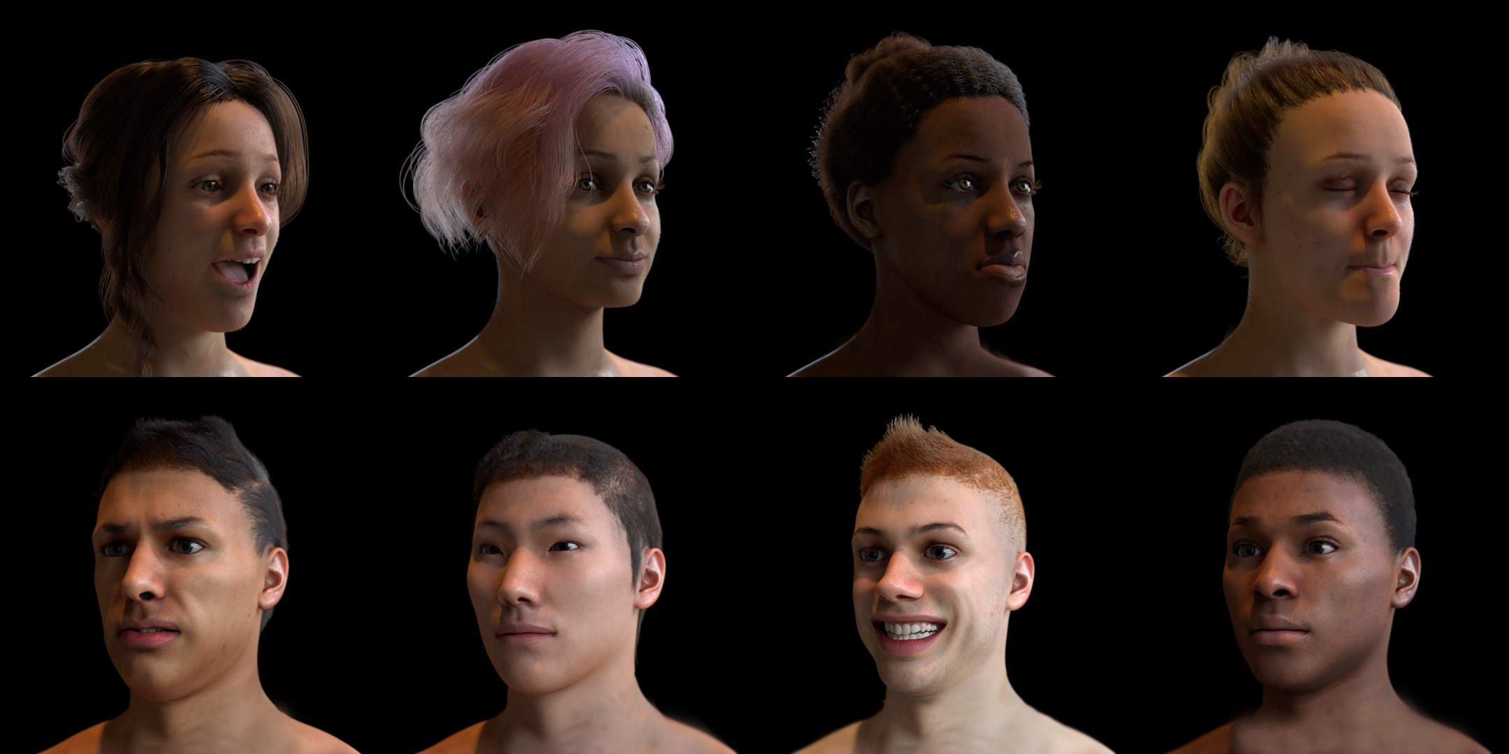 Datagen simulated faces