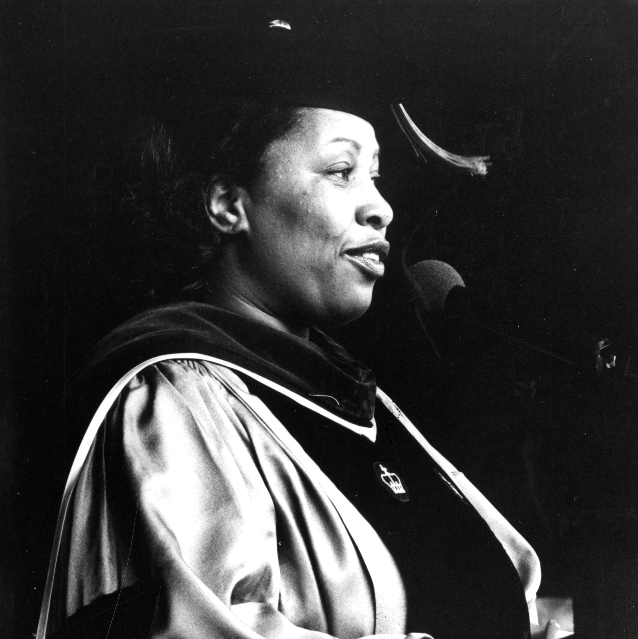 Toni Morrison speaking at her commencement address to the Barnard Class of 1979.