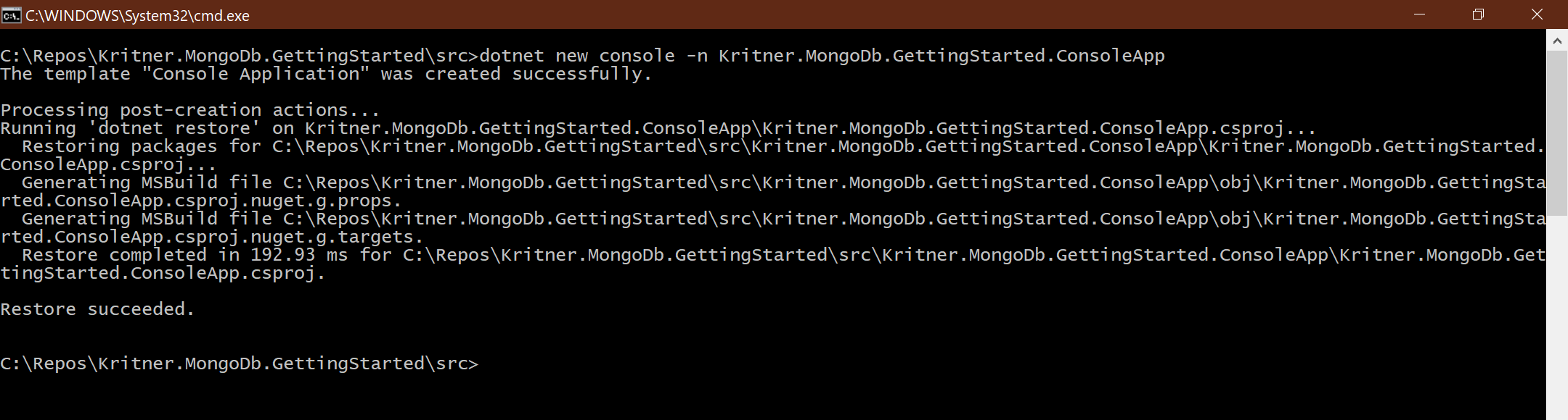 Getting started on MongoDb with  NET Core - Russell Hammett