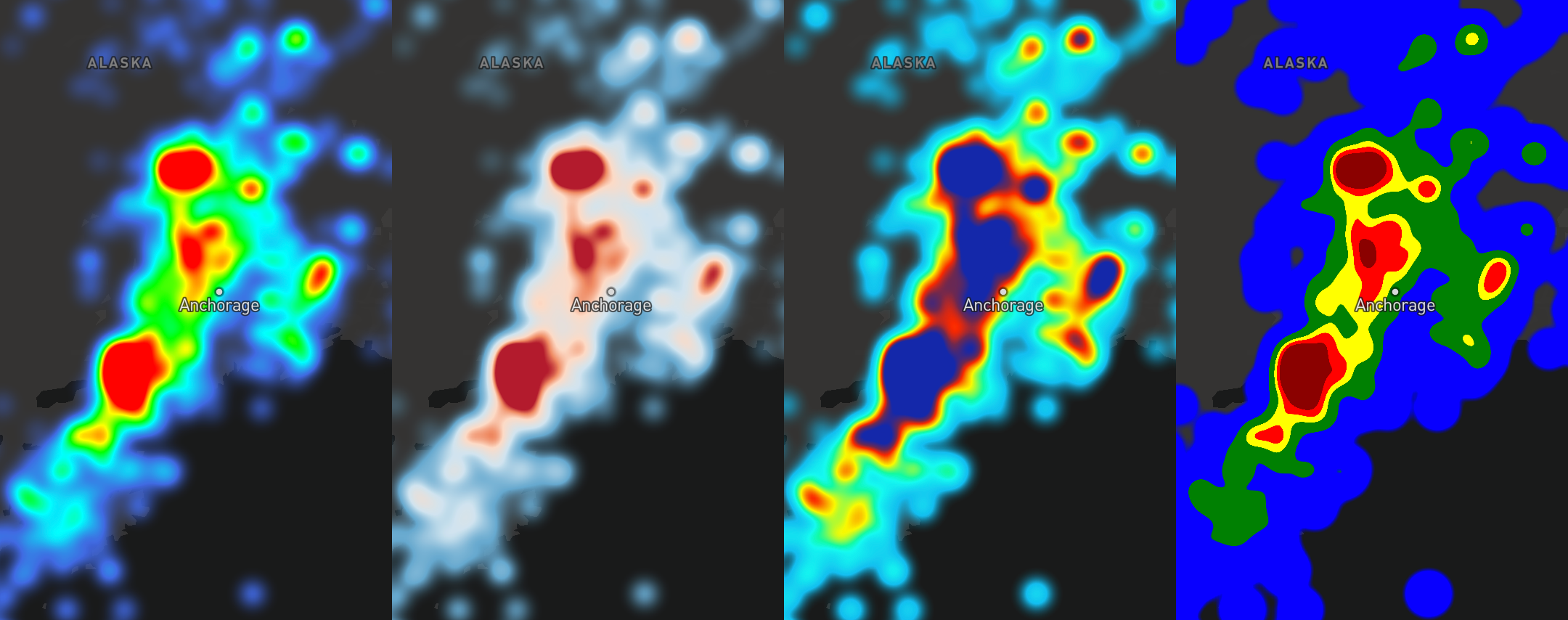 Introducing heatmaps in Mapbox GL JS - Points of interest