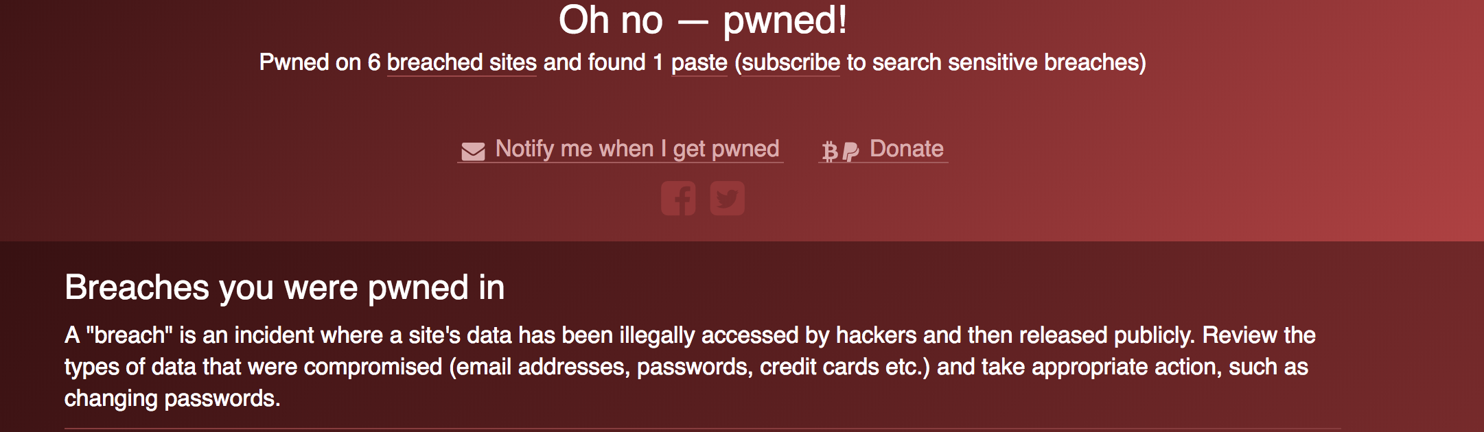 One of my Old Passwords Was Hacked on Six Different Websites