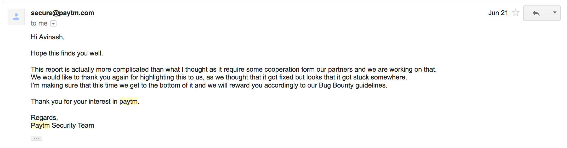 BugBounty — @Paytm Customer Information is at risk — India's