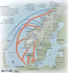 Map Showing German Invasions of Denmark and Norway and Subsequent Allied Counter-invasion of Norway—April-June 1940—Source: Google Images