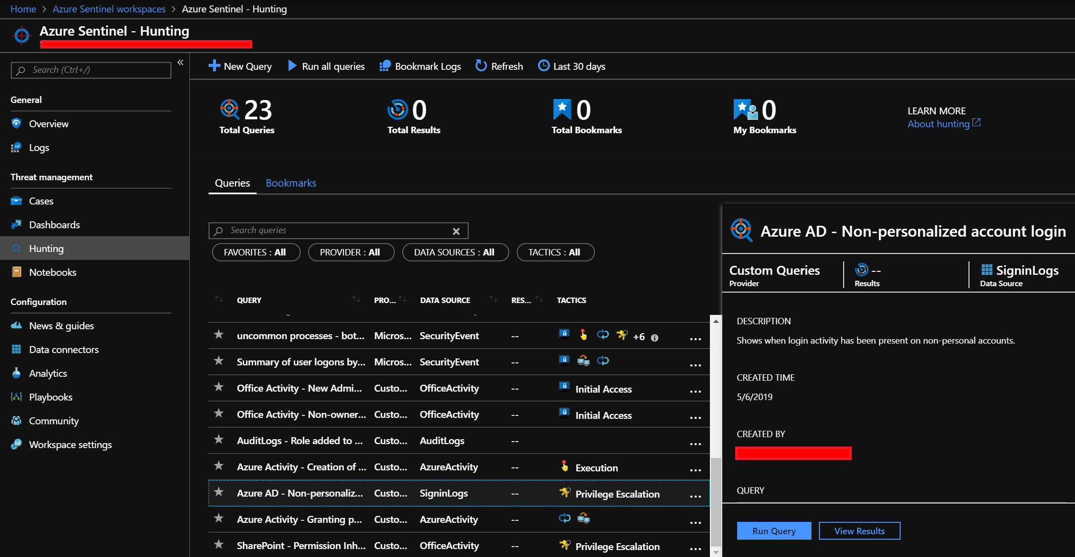 Azure Sentinel: helping your SOC with investigation and hunting