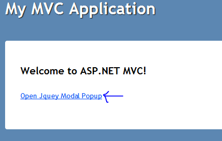 How to create a modal popup in ASP NET MVC 3 using Jquery