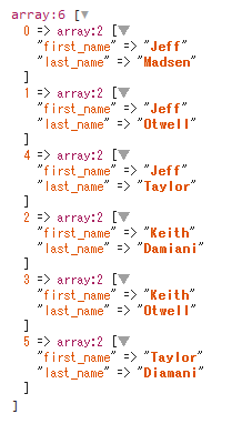 The Keys are the Key in Laravel Multiple Field sortBy()