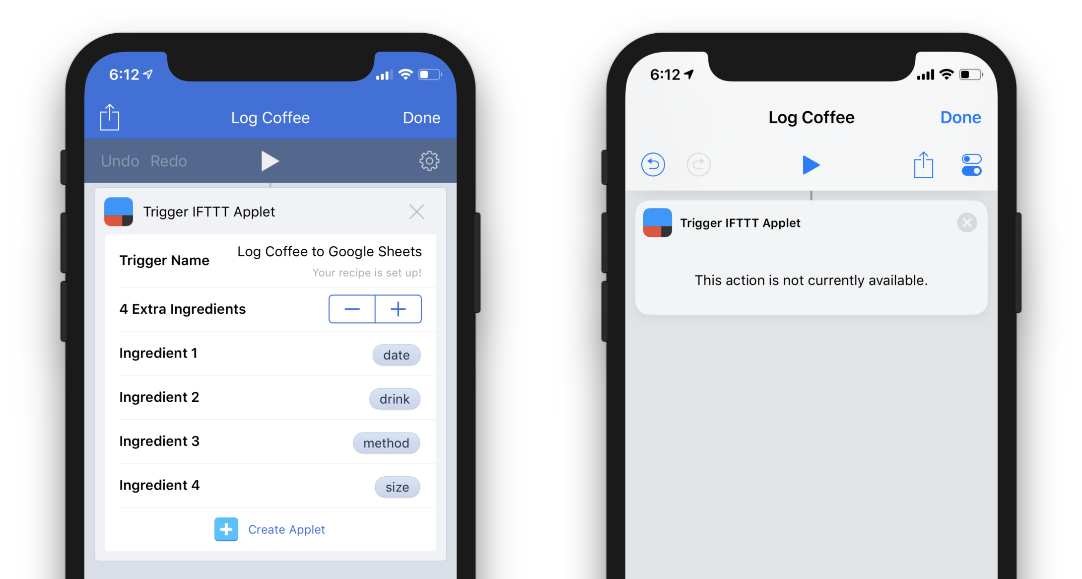 Making IFTTT work with Apple's new Shortcuts app - Stephen