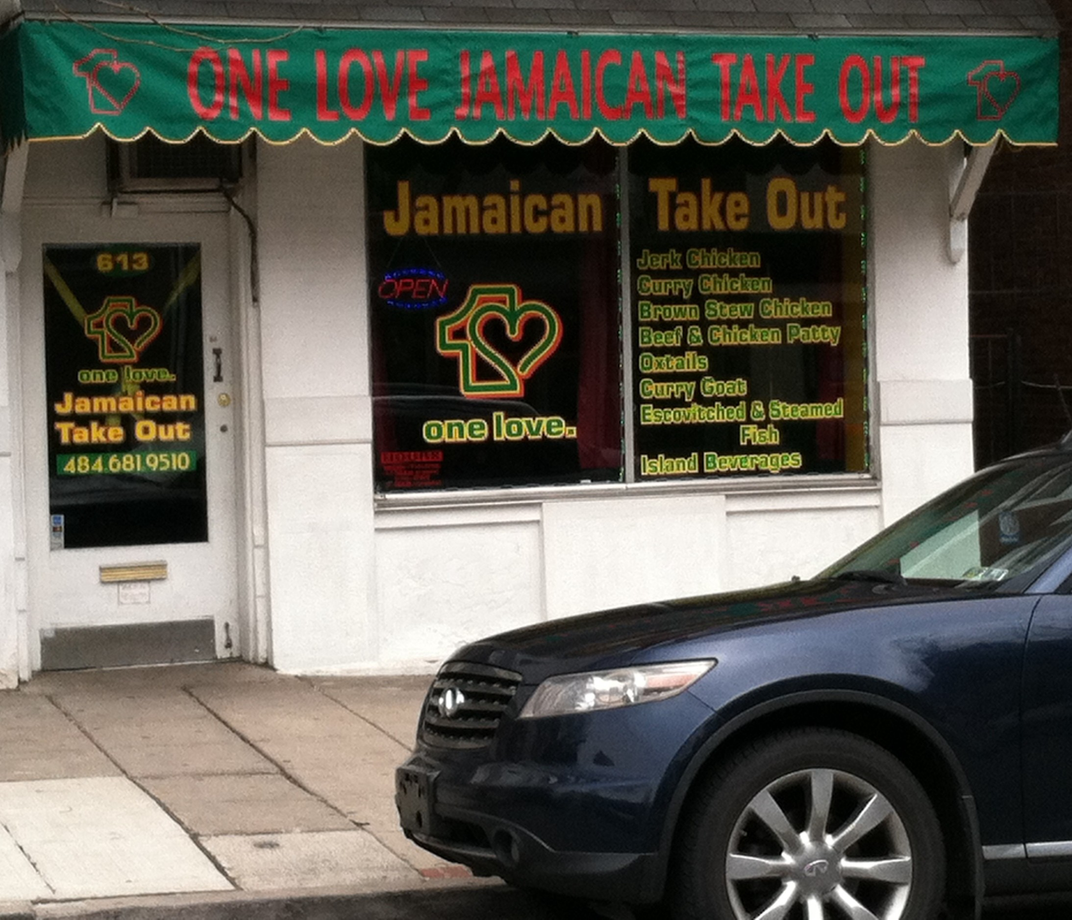 ONE LOVE JAMAICAN TAKE OUT (UBER EATS) opens it's doors in