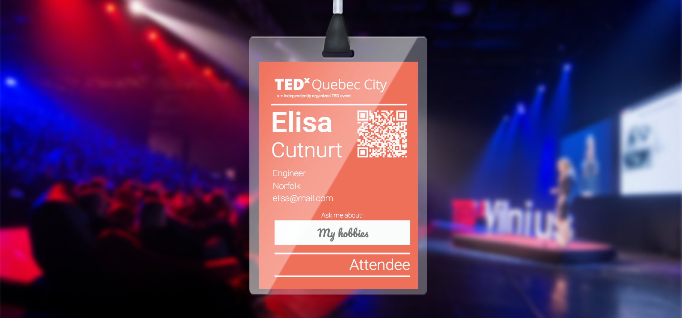 create name badges for your tedx talk