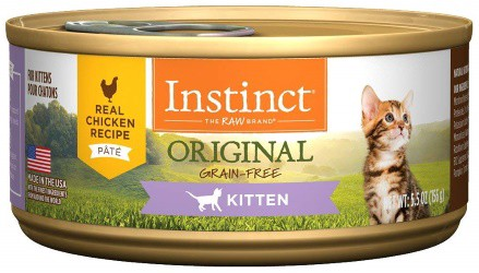 Instinct Kitten Foods Grain-Free Pate Real Chicken Recipe Natural Wet Canned