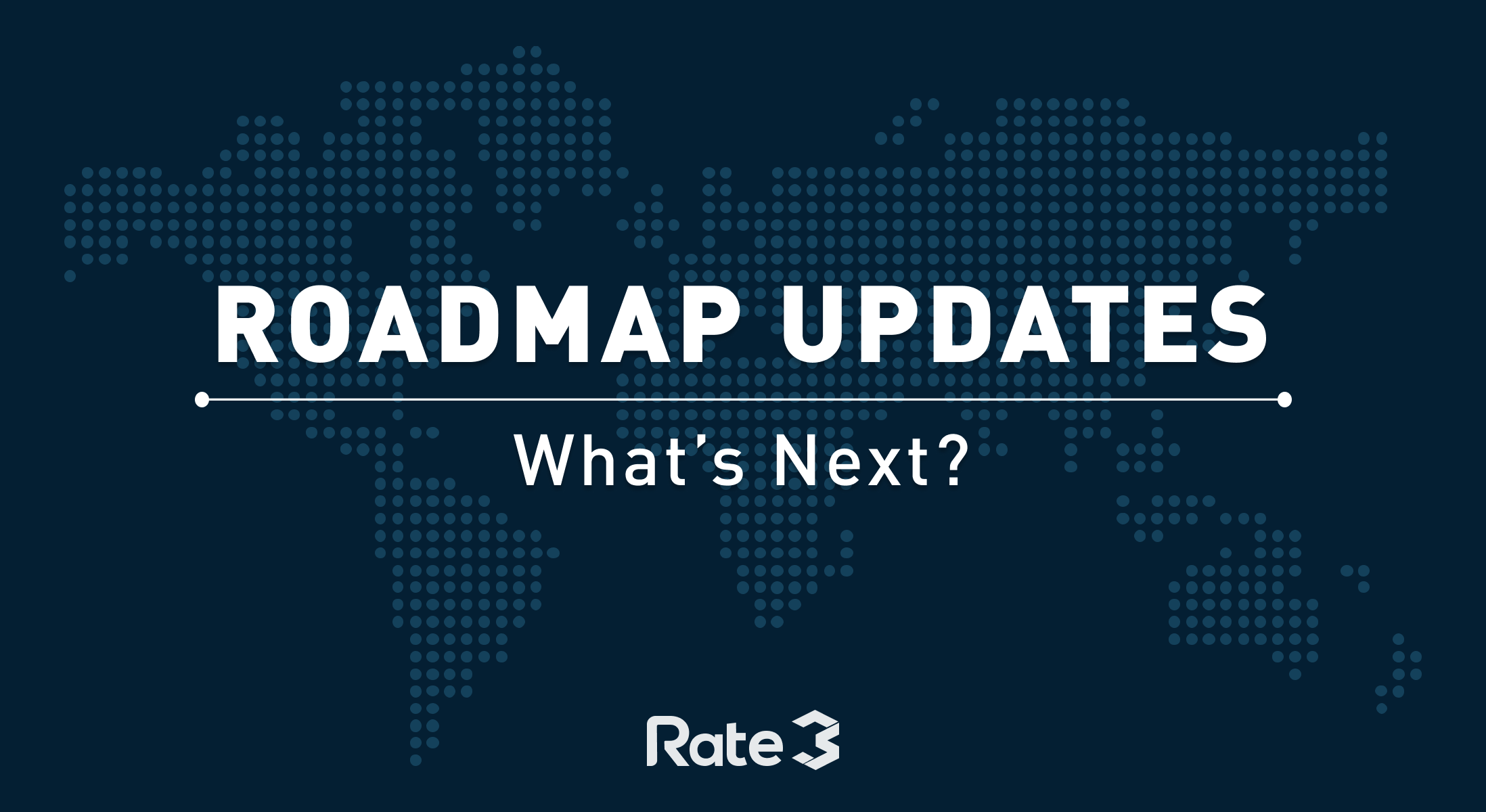 Rate3 Roadmap Update - Official Rate3 - Medium on