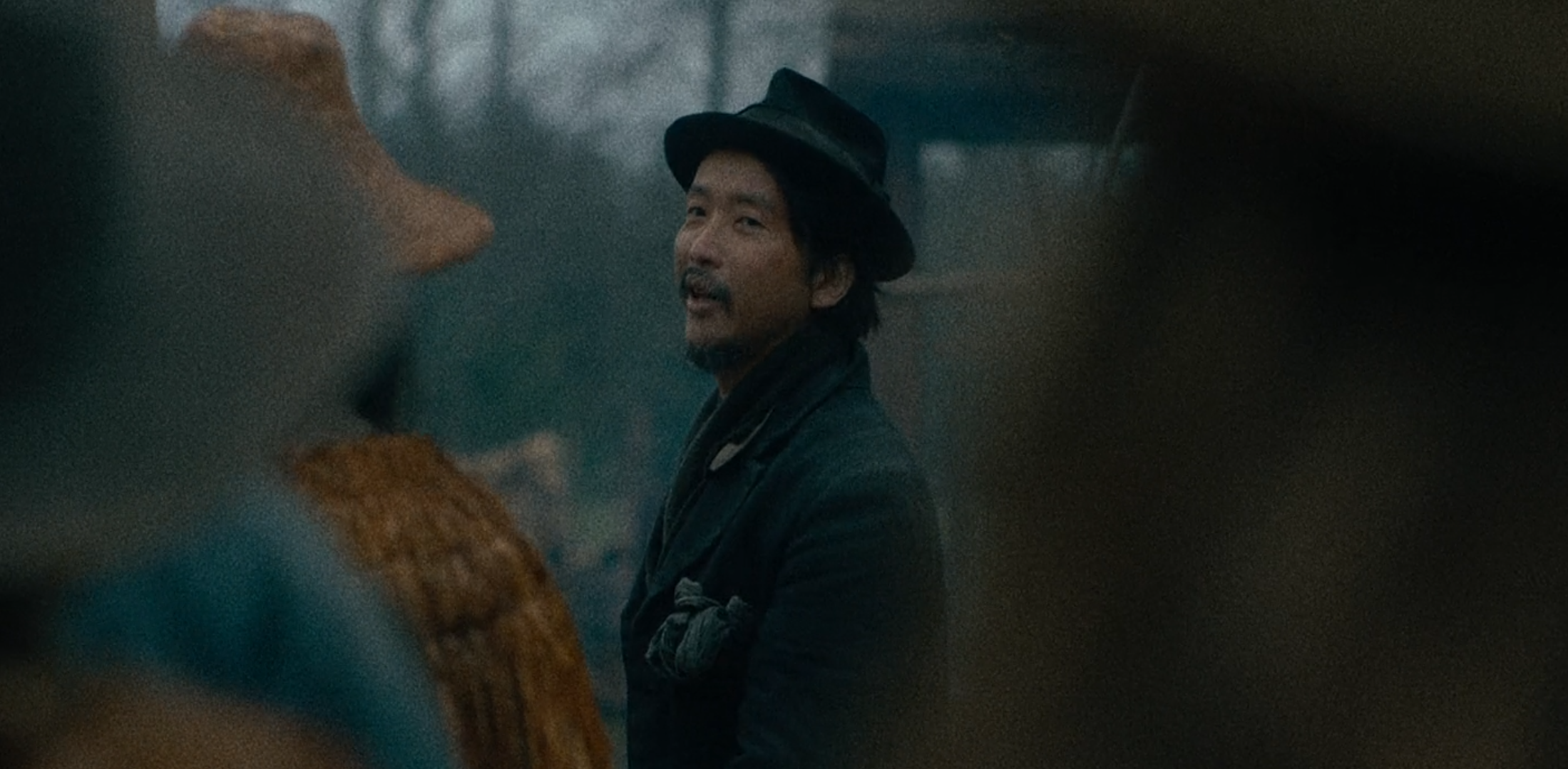 """Orion Lee as King-Lu in Kelly Reichardt's film """"First Cow"""""""