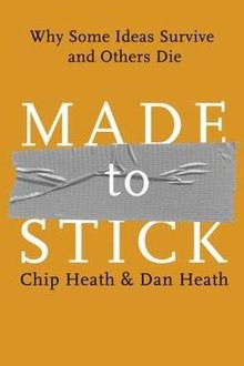 The cover of the book made to stick