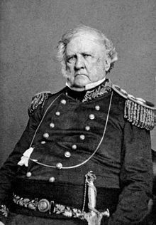 General Winfield Scott, took charge of Washington's defenses pending Lincoln's arrival for his inauguration—Source: Google