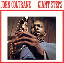 The album art from Giant Steps by John Coltrane—an image of Coltrane playing saxophone
