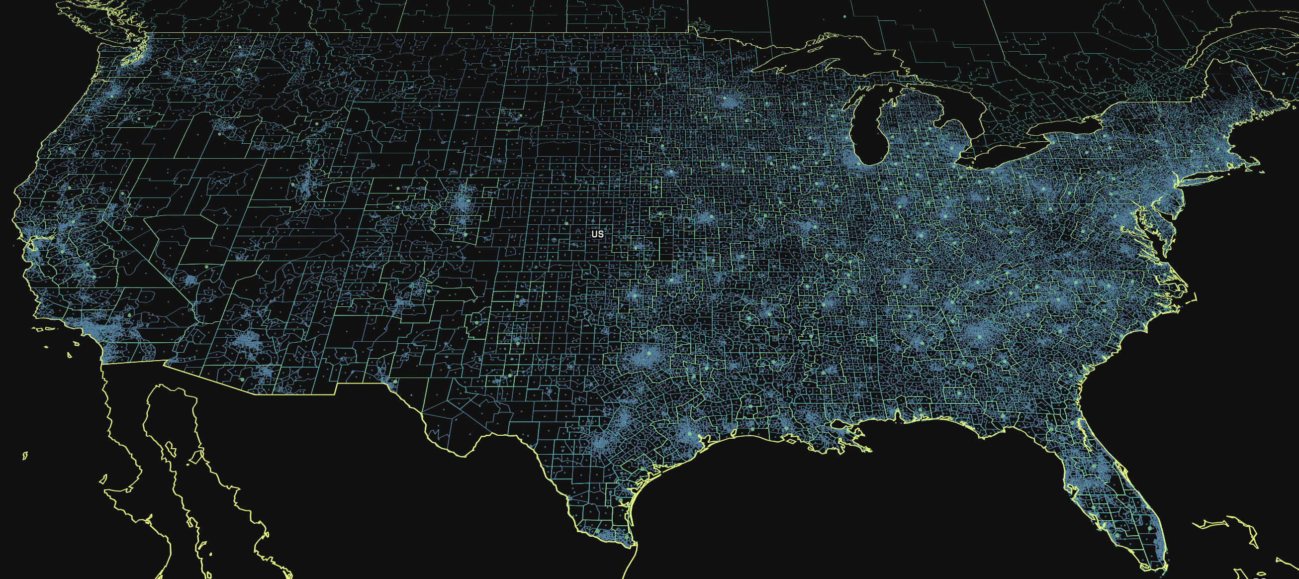 Two million new boundaries to understand your data - Points