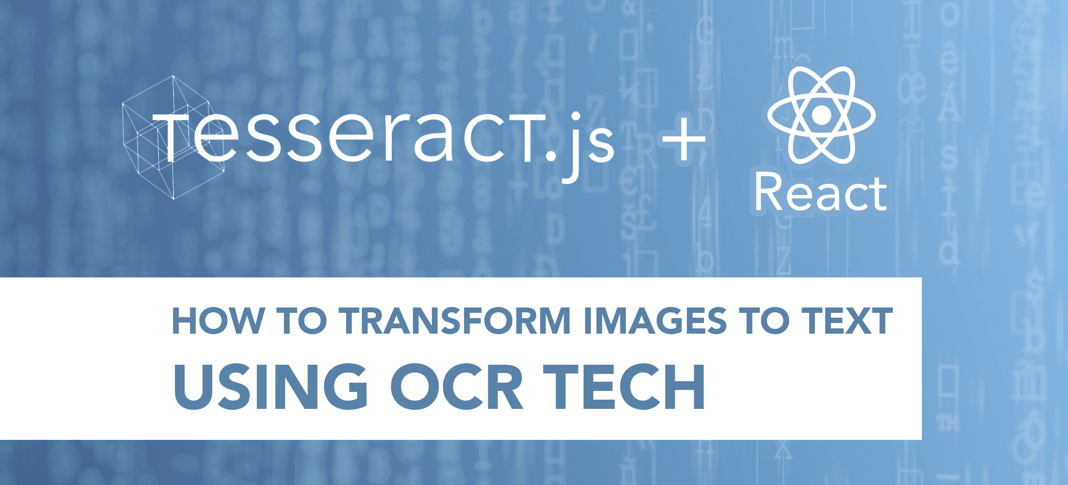 Eliminating manual data entry: Using OCR to convert images