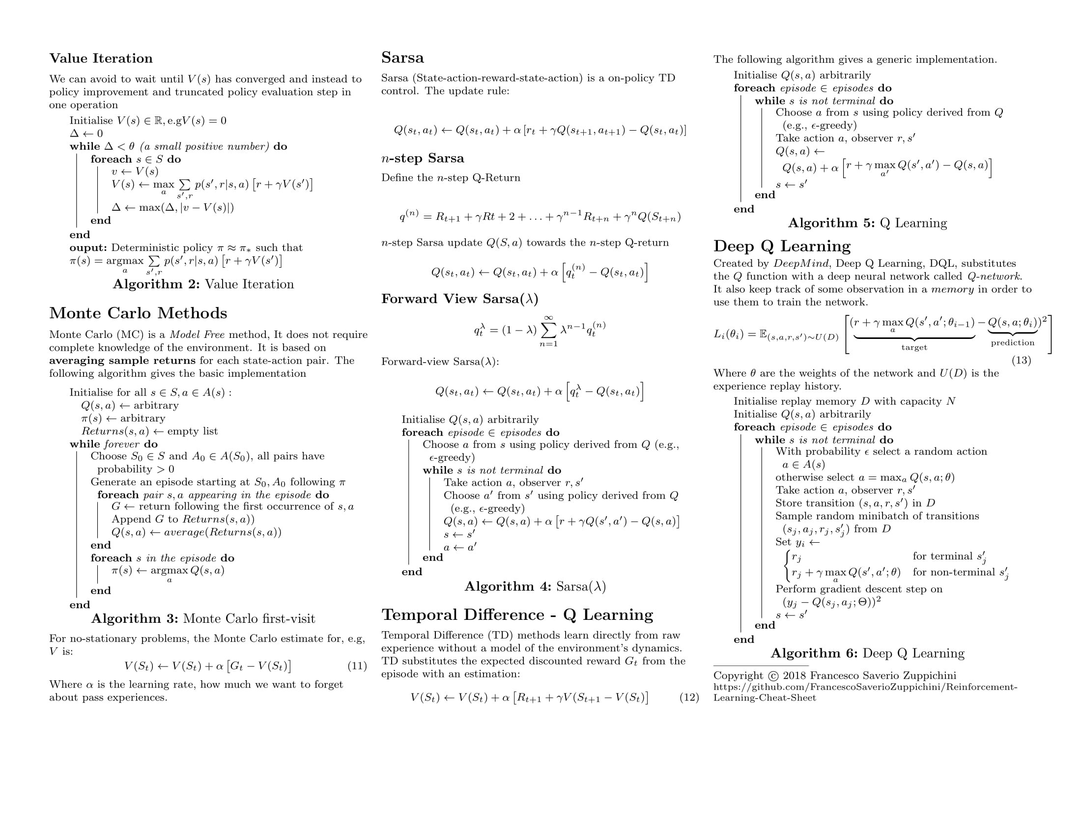 Reinforcement Learning Cheat Sheet - Towards Data Science