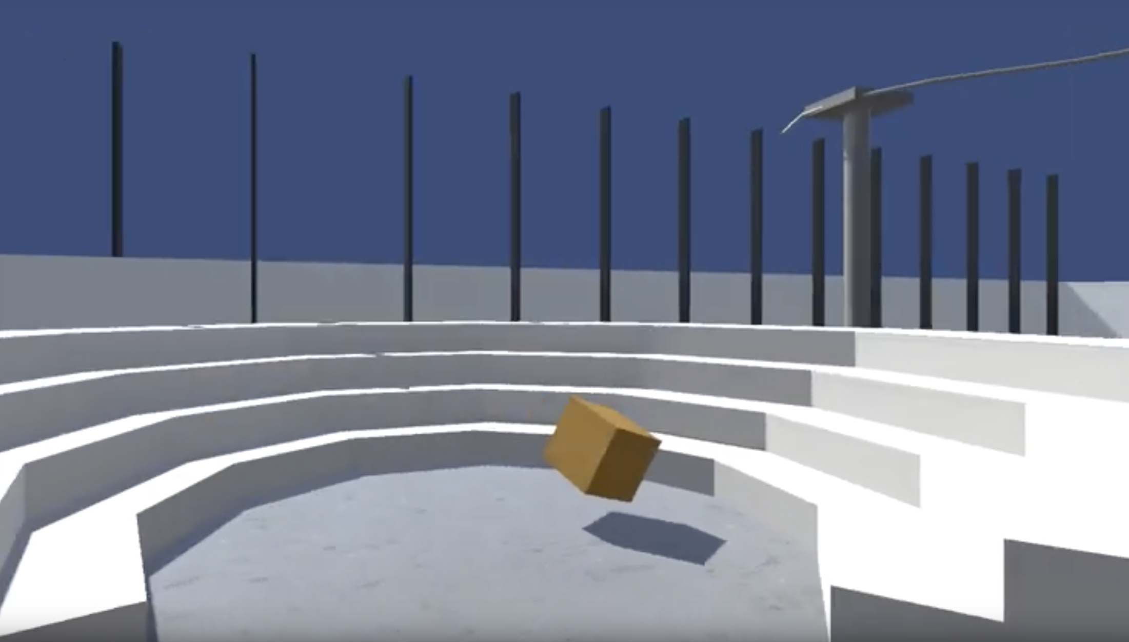 Exploring virtual worlds with reinforcement learning