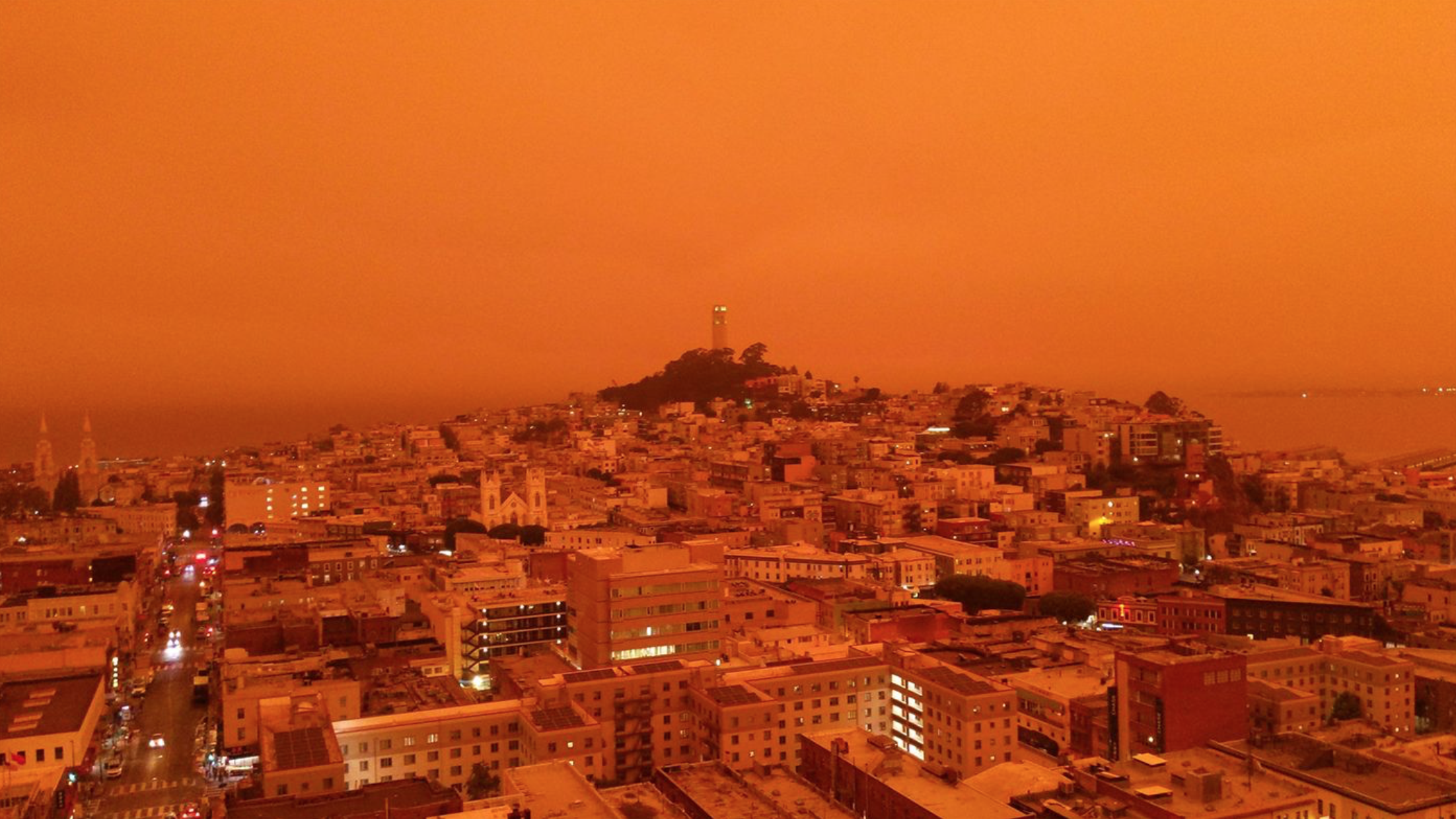 San Francisco Red Sky from the Fires