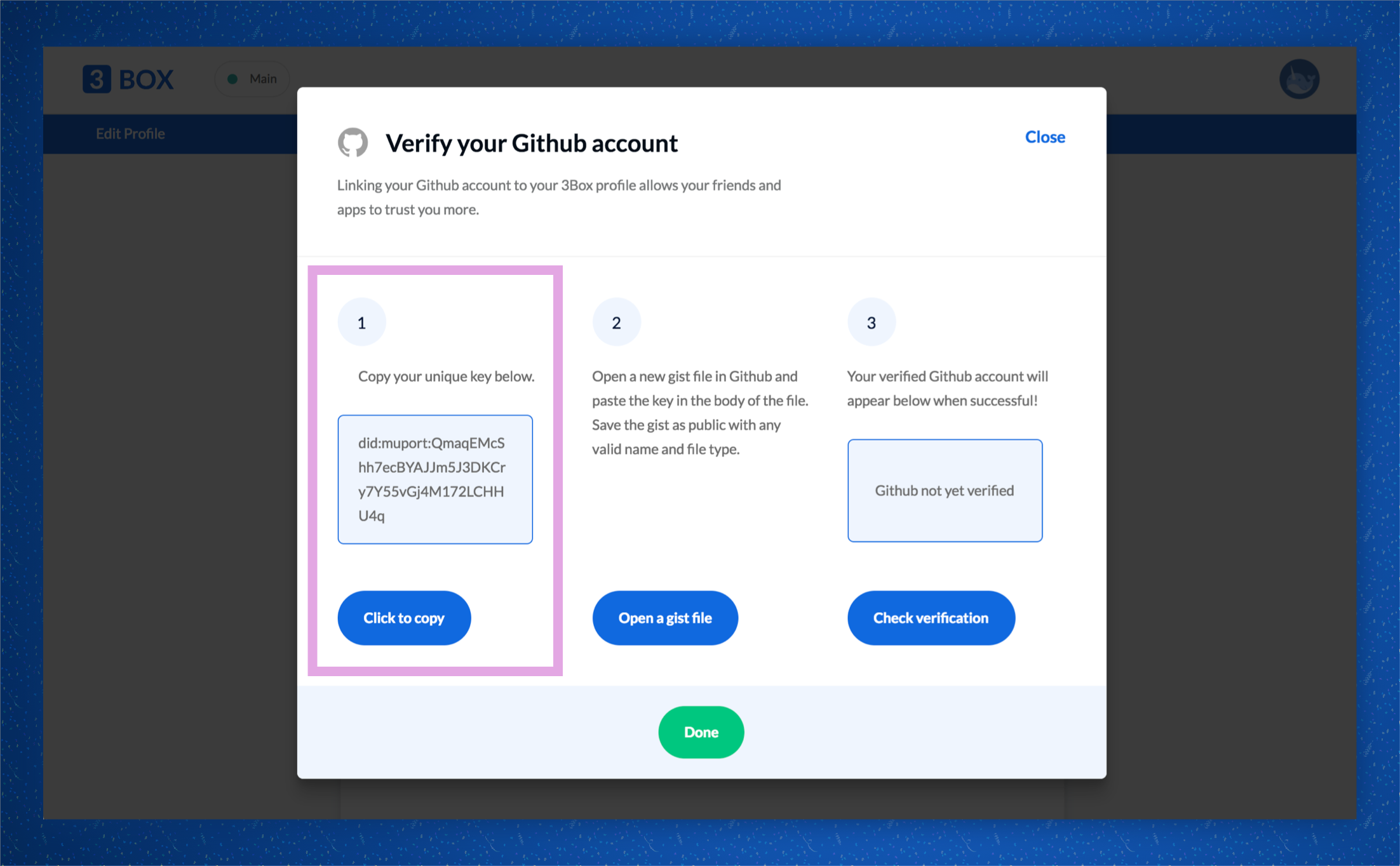✅ Verify your Twitter and Github Accounts on 3Box - 3Box