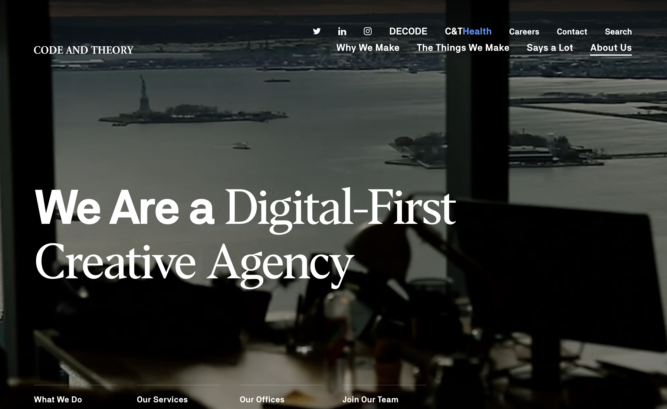 Code and Theory: digital creative agency and UX firm