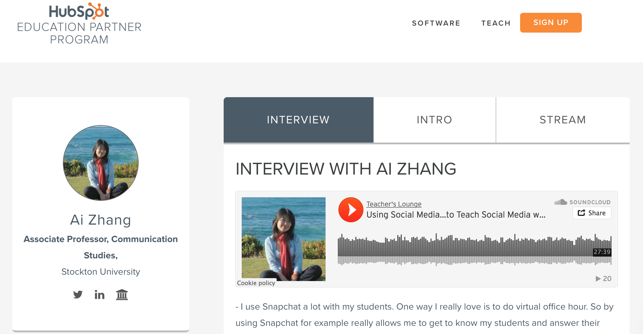 Using Social Media to Teach Social Media: My Interview with