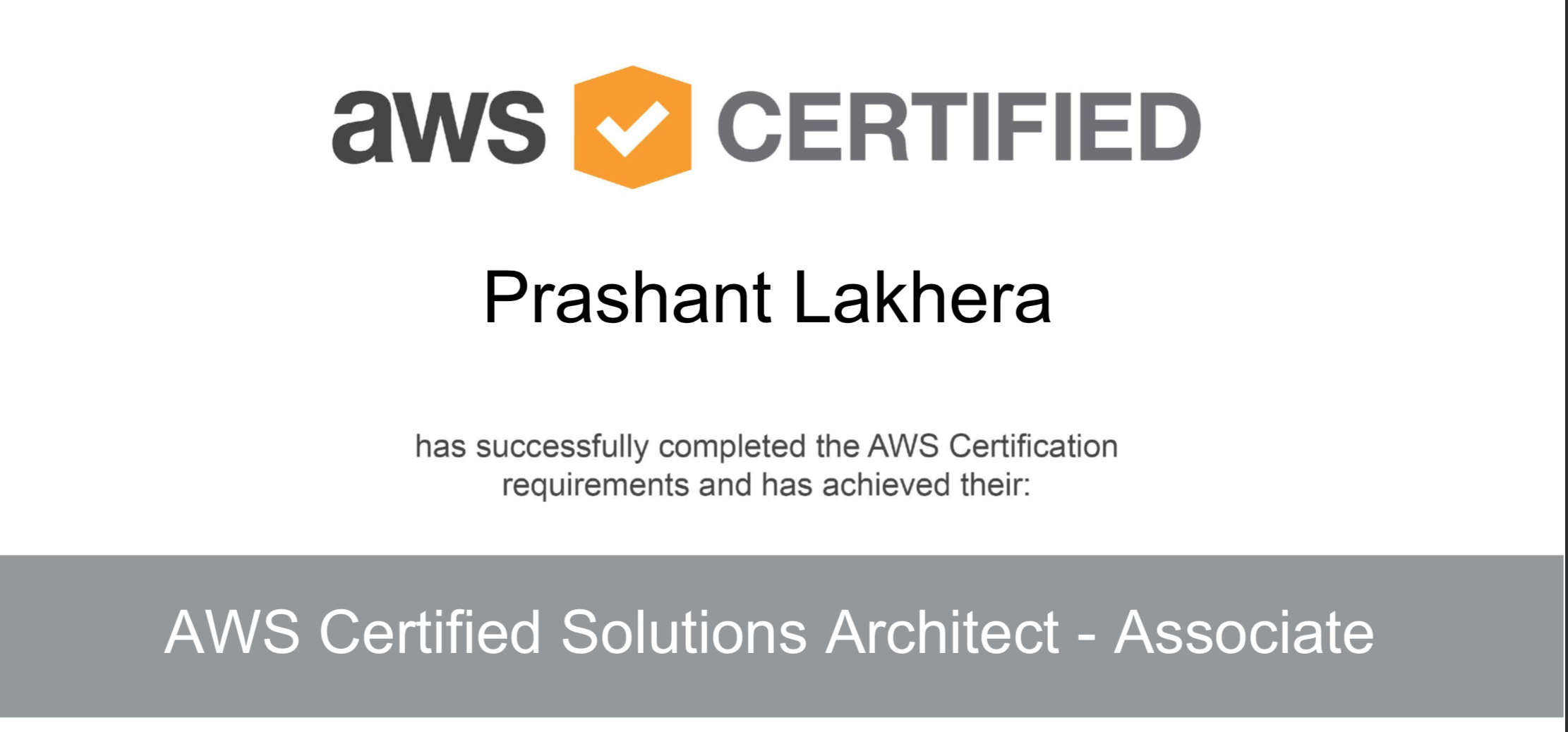 My Road To Aws Certified Solution Architect Prashant