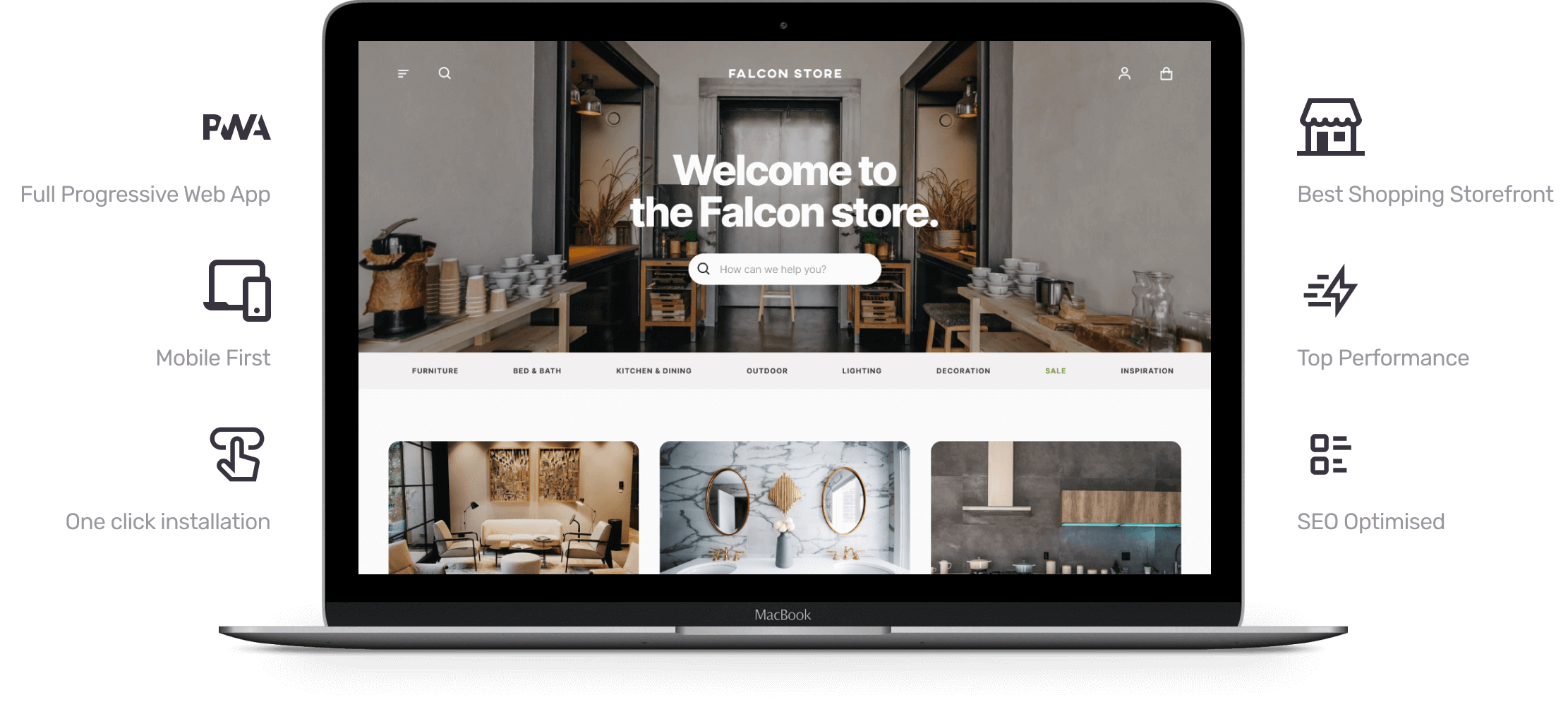 Visualisation of Falcon PWA Storefront for BigCommerce