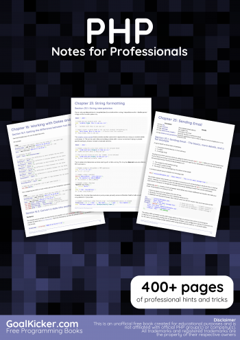 E-book: PHP Notes for Professionals book - Easyread - Medium