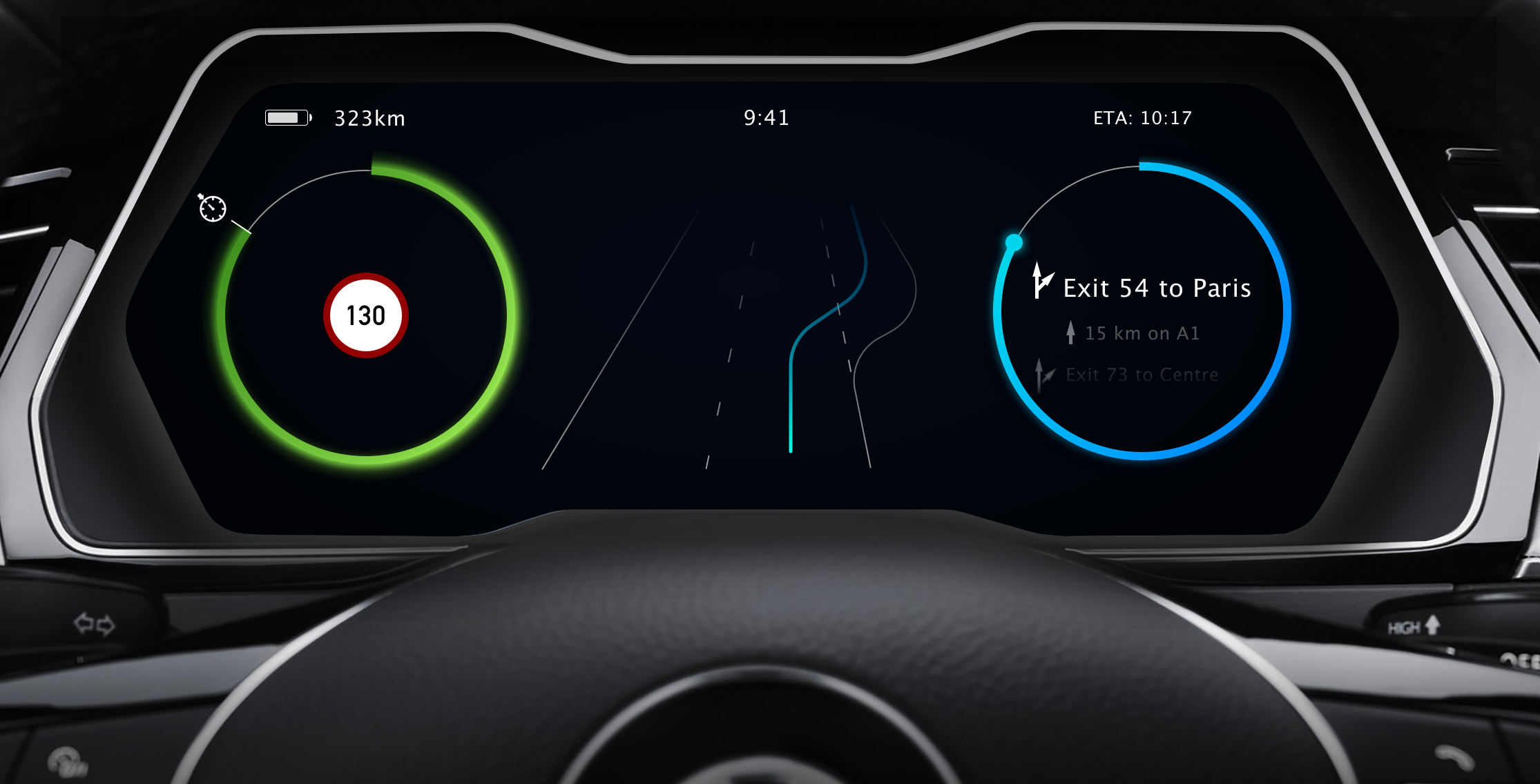 Design Of An Instrument Cluster For An Electric Car By Casper Kessels Medium