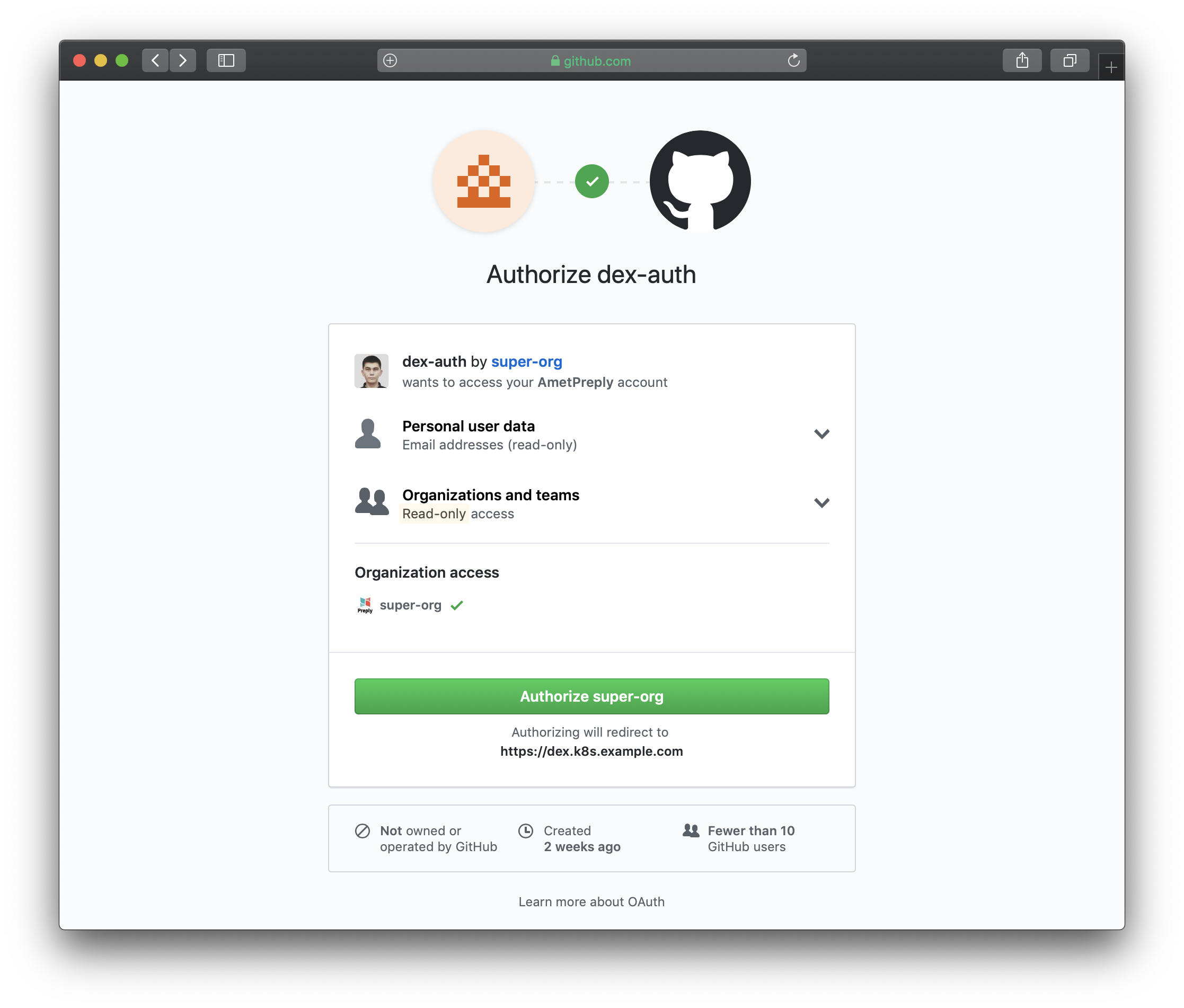 Kubernetes authentication via GitHub OAuth and Dex - Preply