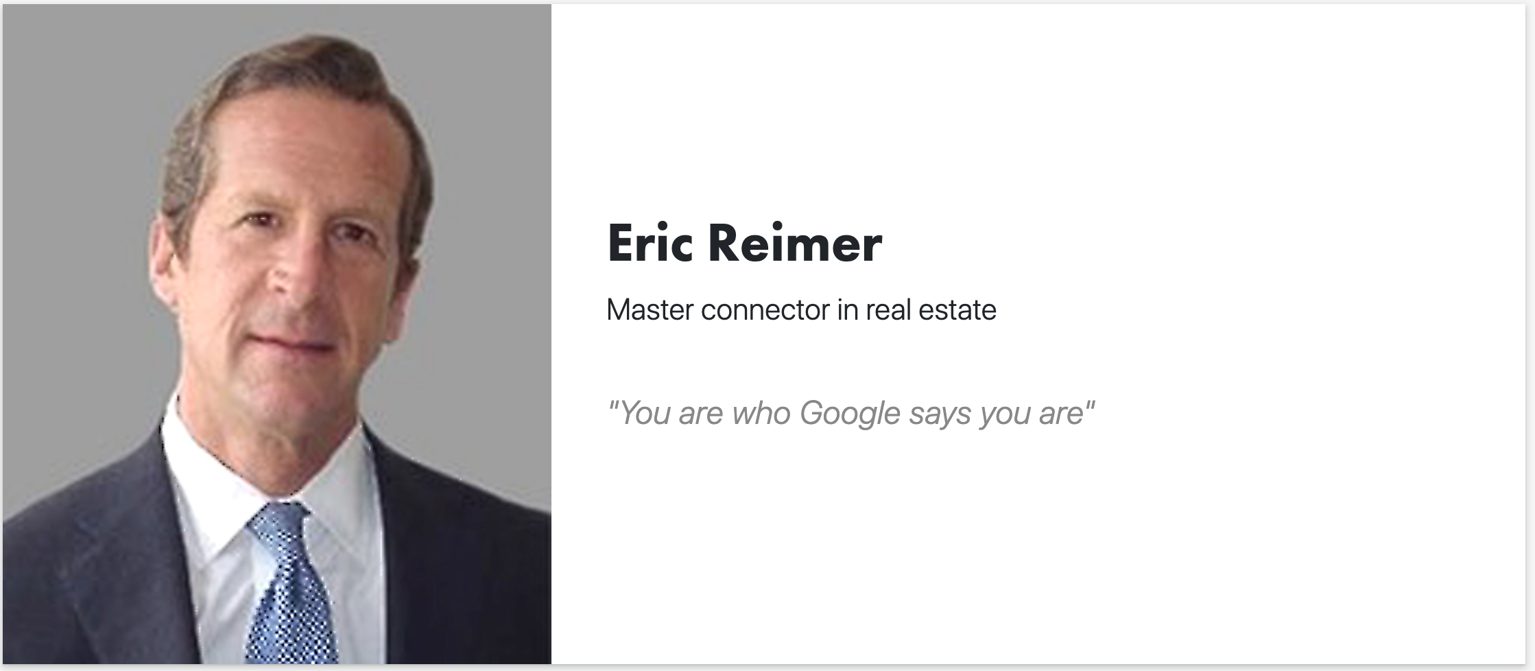 Eric S. Reimer - Master Connector in Real Estate — Cushman & Wakefield
