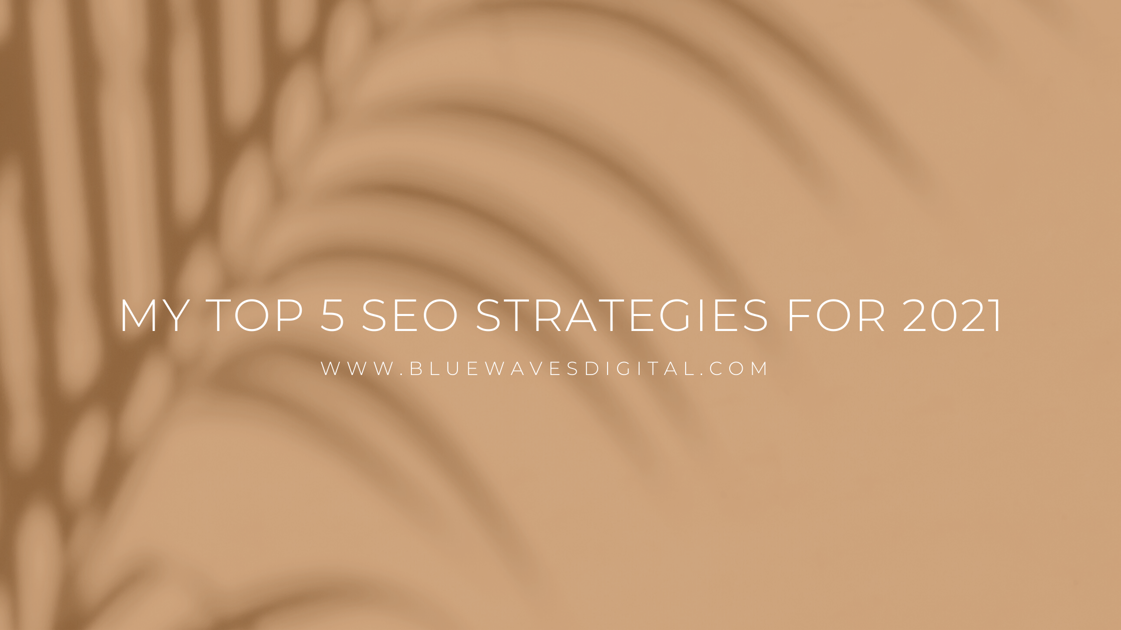 My Top 5 SEO Strategies For 2021