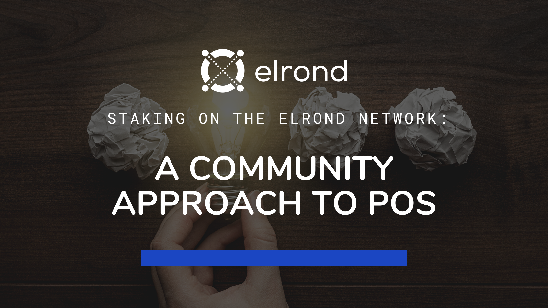 A community approach to staking on the Elrond Network.