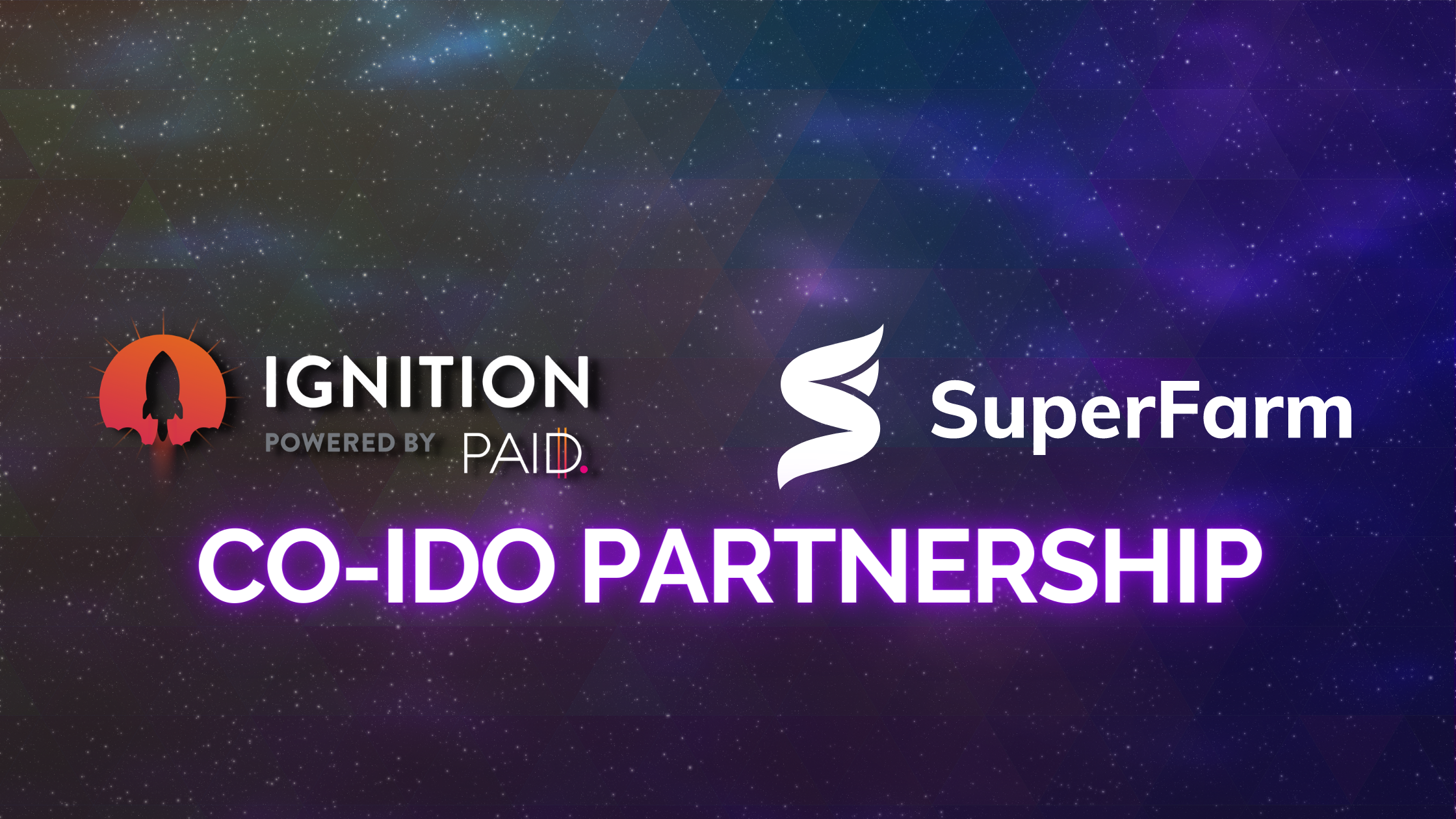 Co-ido partnership between PAID Ignition & SuperFarm