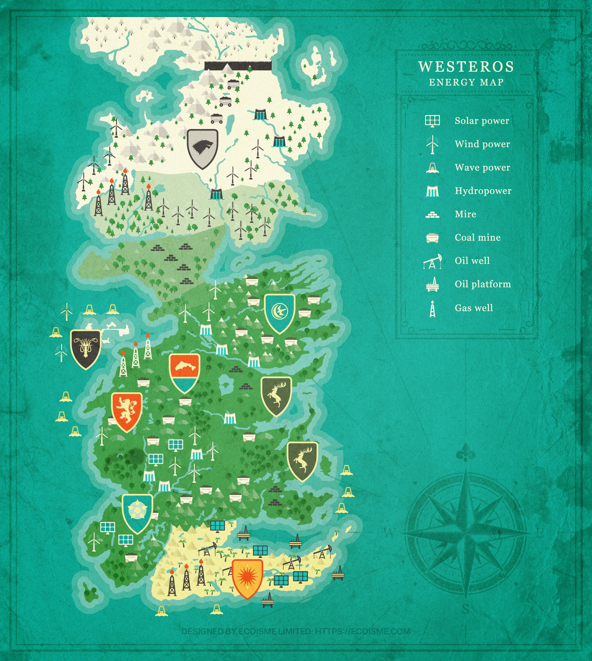 Energy Map Of Game Of Thrones World Shows Who Is The Strongest By Anton Diatlov Ecoisme Blog Medium