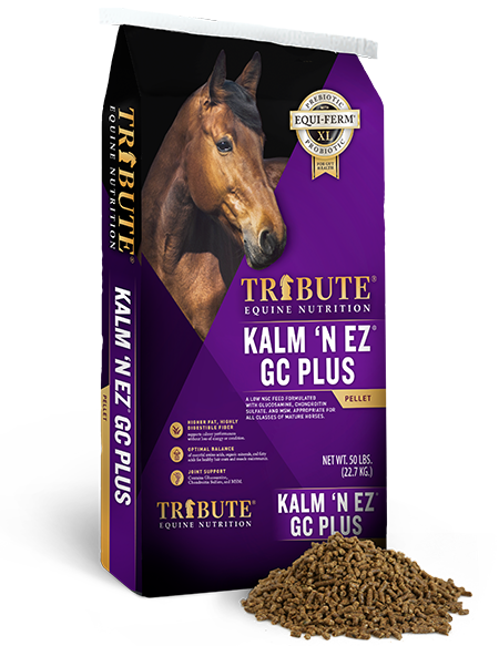 Tribute Equine Nutrition Kalm 'N EZ GC Plus Low-NSC, Joint Support Horse Feed
