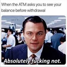 When the ATM asks if you'd like to see your balance before making a withdrawal