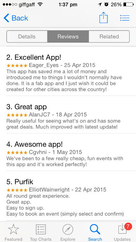 YPlan app review's