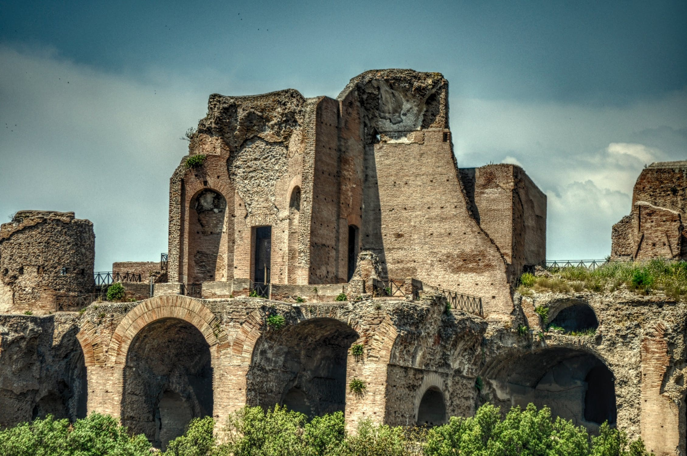 Destroyed ruins in italy