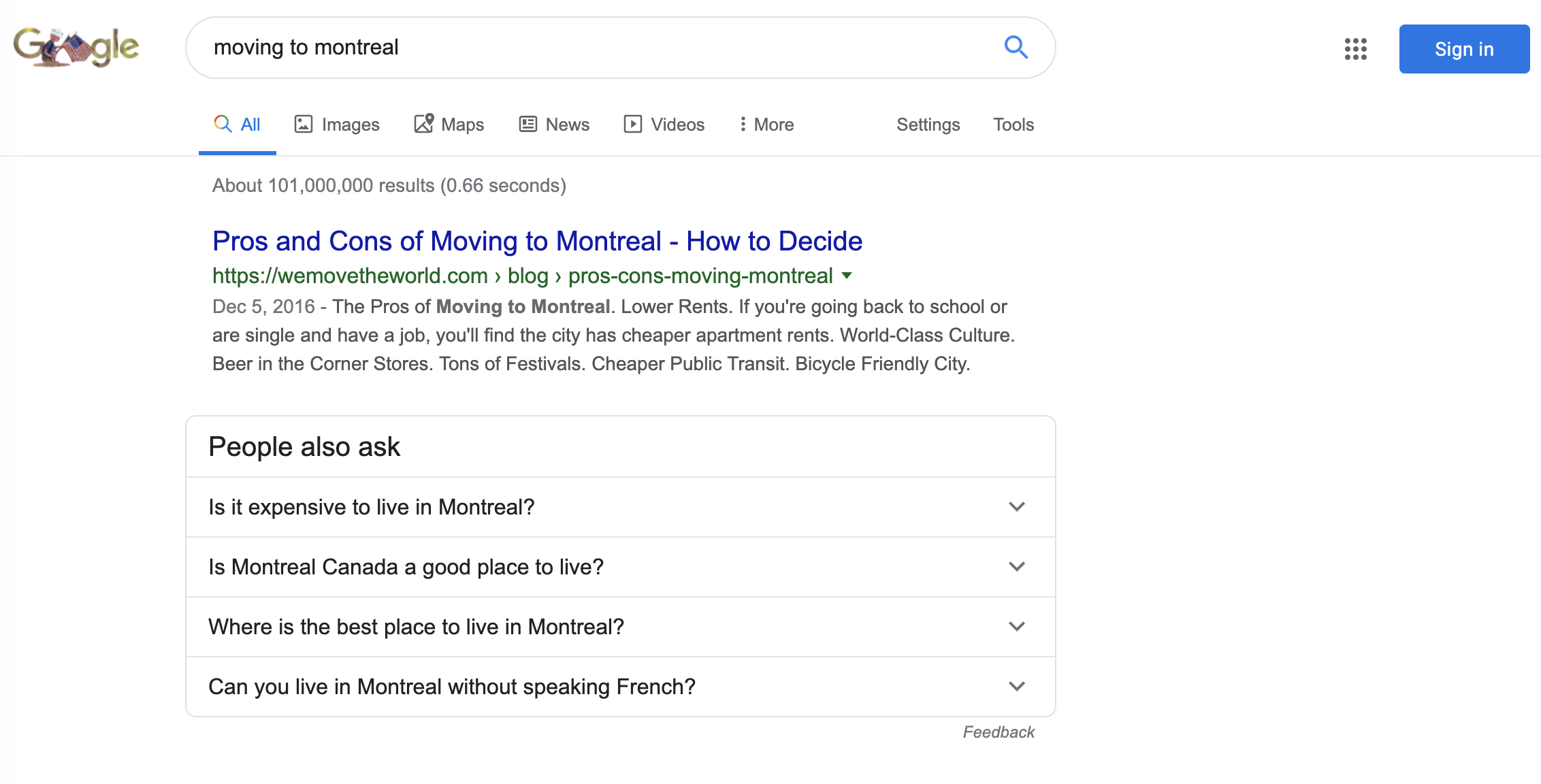 google related questions feature for keyword research